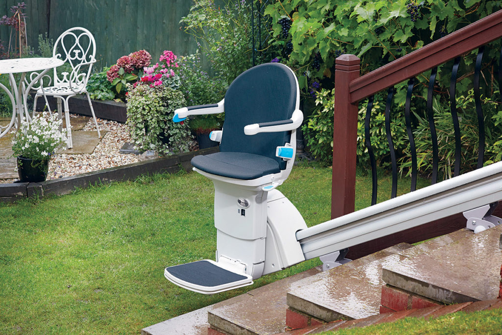 Outdoor Stair Lift available through Northeast Accessibility