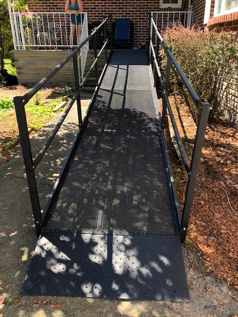 Modular ramp installed by Northeast Accessibility