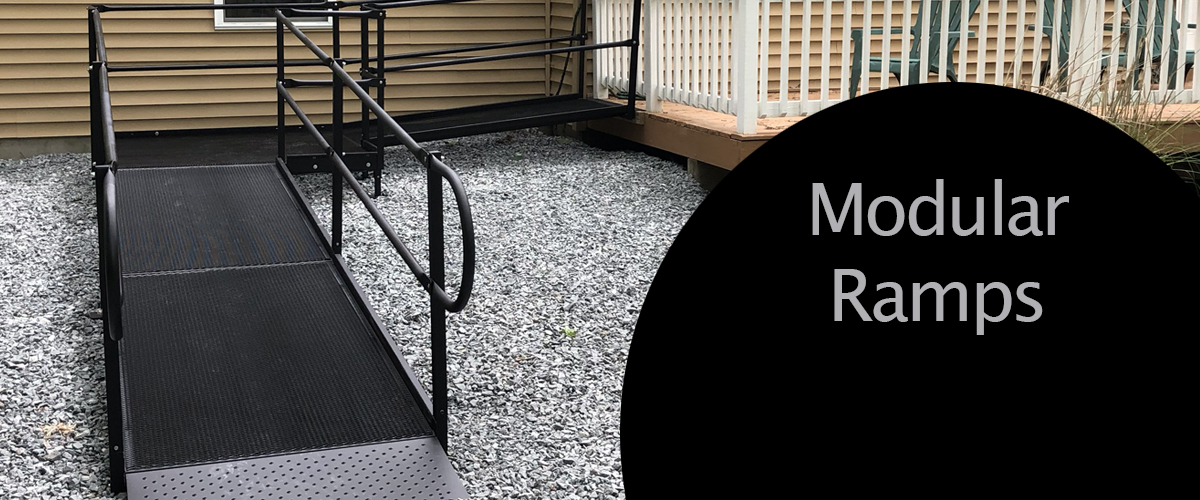 Modular ramps installed by Northeast Accessibility