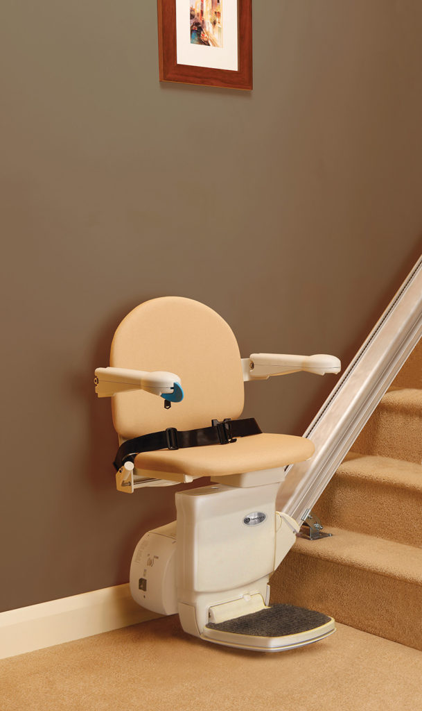 Stair lift available through Northeast Accessibility