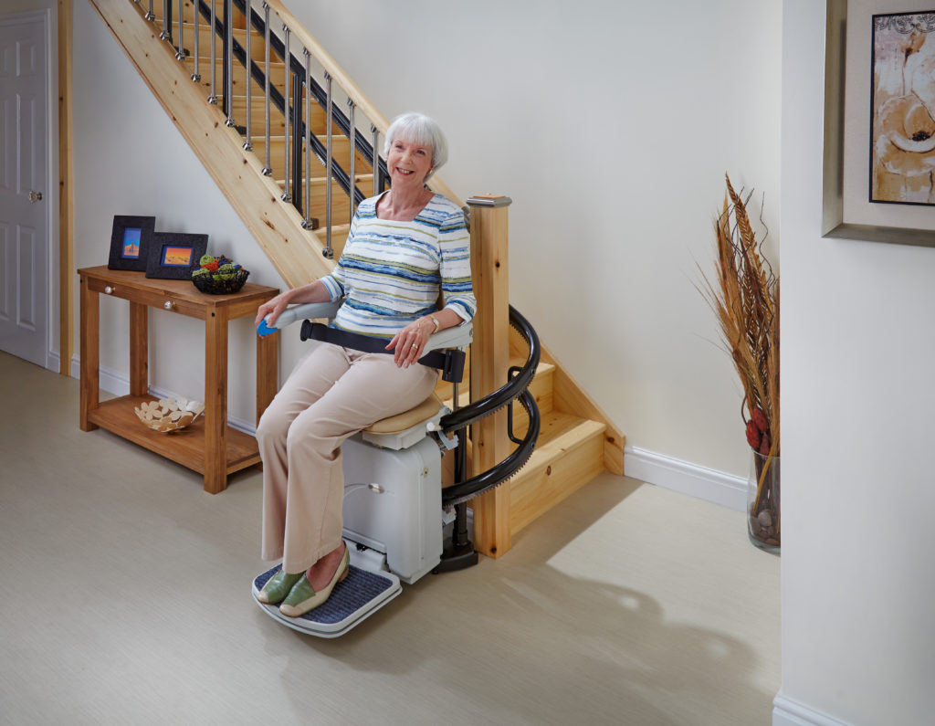 Stairlift installation available through Northeast Accessibility